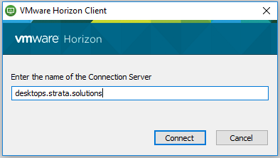 Screen Prompt - Enter name of connection server